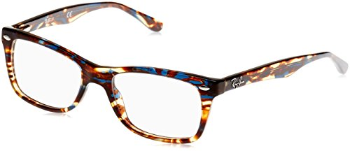 Ray-Ban Damen 0rx 5228 5711 50 Brillengestell, Blau (Spotted Blu/Brown/Yellow)