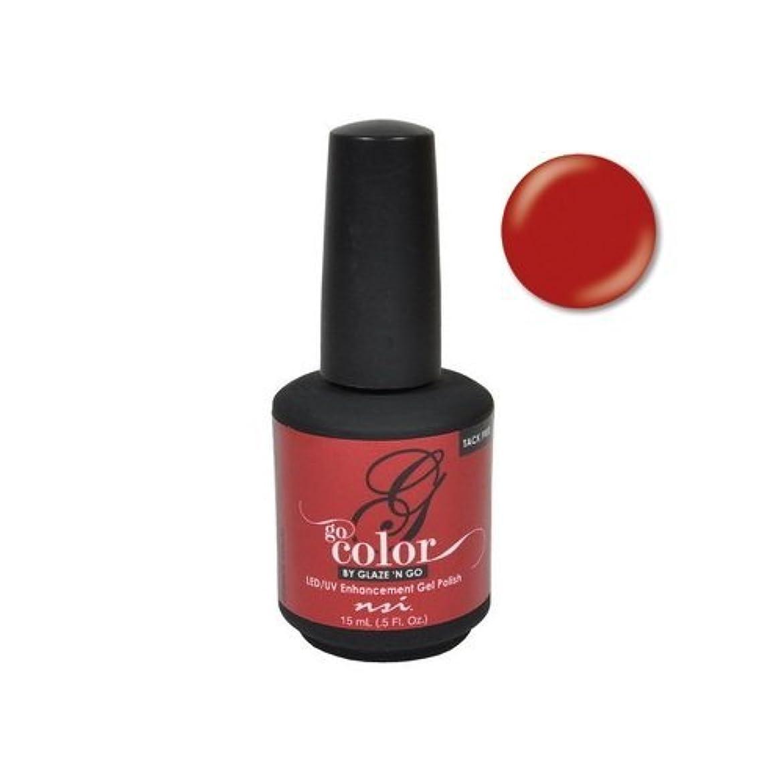 最も遠い置くためにパック説明的NSI Go Color Gel Polish - Lipstick Stains - 0.5oz / 15ml