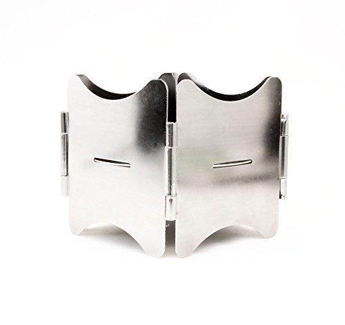 Outdoor Saxx® - Estufa plegable compacta para leña y combustible, cocina de camping, picnic, senderismo, viajes, acero inoxidable, con bolsa