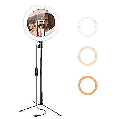 "Gugusure 10"" Led Ring Light with Tripod Sta..."