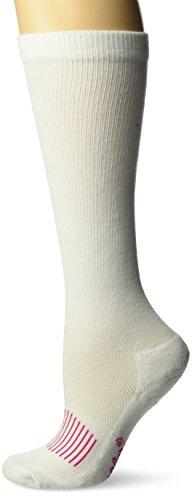 Wrangler Women's Ladies Western Boot Socks 3 Pair Pack, White, Medium