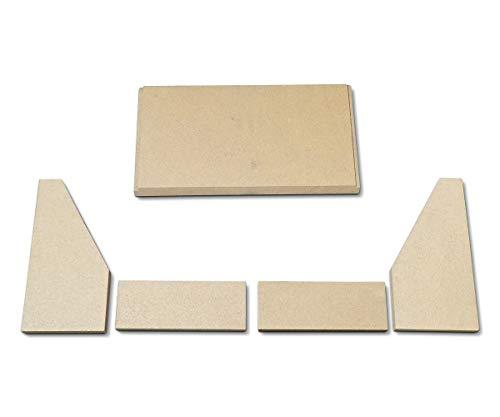 Feuerraumauskleidung für Fireplace Rönky 50 Kaminöfen - Vermiculite - 5-teilig