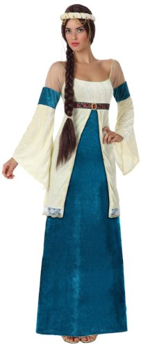 Atosa 8422259154327 - Verkleidung Dame Mittelalter blau, Erwachsene