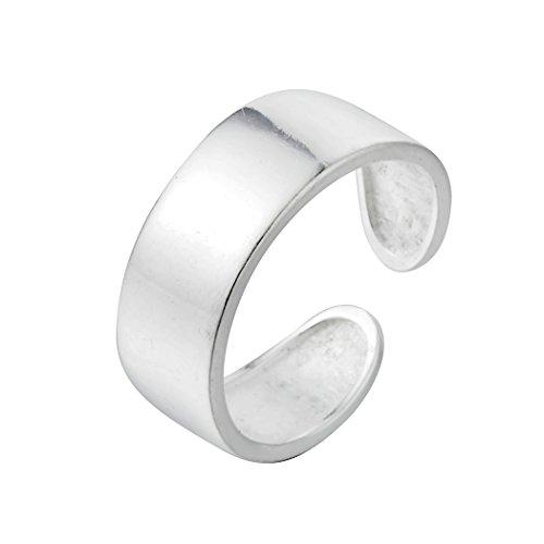 Chandler Anillos de pulgar para mujeres hombres y niñas dedo del pie simple anillo de banda abierta tamaño ajustable 925 anillos de plata minimalista joyería