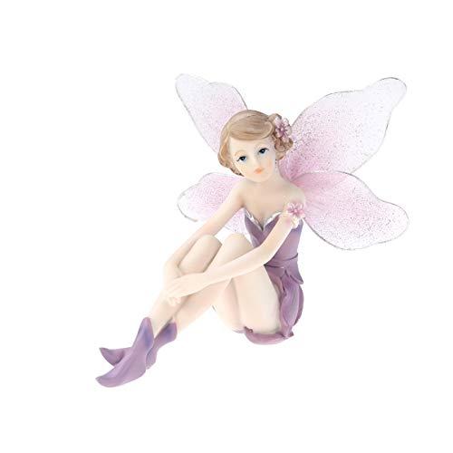 LIOOBO Adornos de hadas de resina Decoración para el hogar Flor en miniatura Figuras de hadas