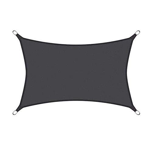 Patio de jardín Resistente al Agua Sun Shade Spade Tabla Impermeable 96.5% Bloque UV con Cuerda Libre 5m0h1x (Color : Negro, Size : 3X5M)