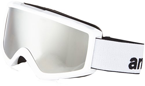 Burton Herren Snowboardbrille Helix 2.0 W/Spare, White/Silver Amber, One Size