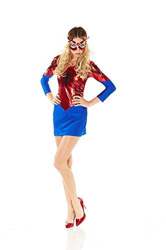 Damen-Kostüm SPIDER-GIRL KLEID Gr. S/M