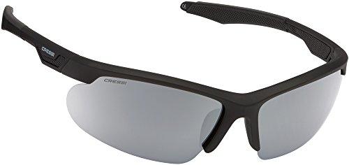 Cressi Speed Sonnenbrille, Schwarz/Silber Verspiegelte Linsen, One Size