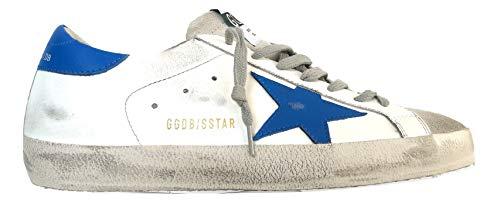 Golden Goose - Zapatillas deportivas vintage Superstar G35MS590.Q23, color blanco y azul Blanco Size: 39 EU