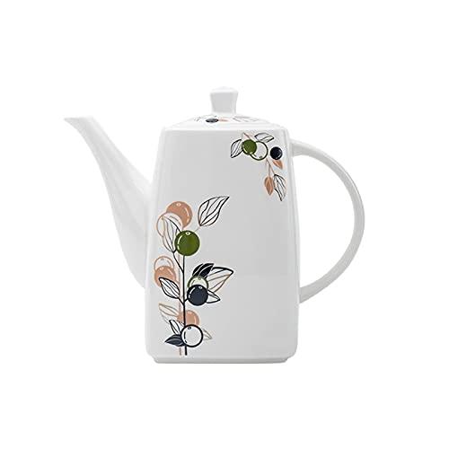 YIFEI2013-SHOP Jarra de Agua Hervidor de Filtro de Gran Capacidad de Lanzador de cerámica Simple con Mango y Tapa de Moda para el hogar, Restaurante, cafetería (54 oz) Jarras (Color : A)