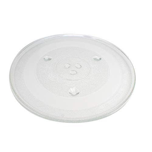 P34 Microwave Glass Turntable Plate Replacement for Emerson MWG9115SB - Compatible with P34 12 3/8 Inch Glass Tray