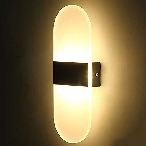 ShiyueNB Feimefeiyou 3 watt / 6 watt / 12 watt LED ronde hoek acryl wandlamp Luminaria ac85 265 V voor beddengoed woonkamer indoor muur lamp LED Indoor 6 W 22 x 11 cm warmwit