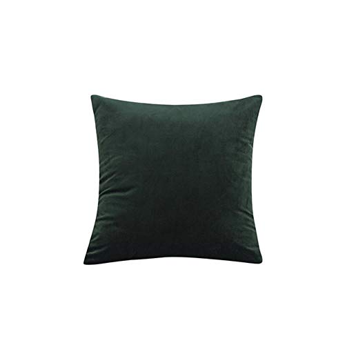 Velvet Throw Pillow Cover Soft Decorative Square Cushion Case for Sofa Bedroom Car Home 55x55/60x60cm Cozy Pillowcase-Olive Green,40x40cm