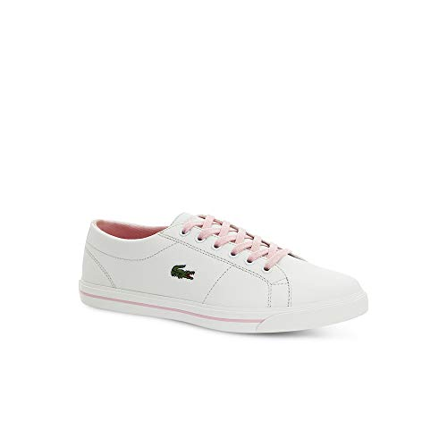 Junior Girls Lacoste Riberic 119 2 Trainers in White Pink
