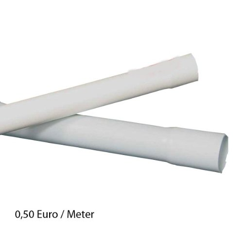 60m M16 16mm Kopos Elektrorohr Stangenrohr Leerrohr Elektrokabel-Rohr gemufft hellgrau PVC NEU