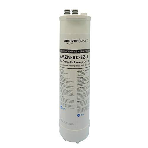 Amazon Basics EZ-Change Basic Filtration Replacement Cartridge | 3,000 Gallons, Equivalent To Culligan RC-EZ-1