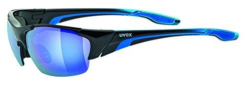 Uvex Unisex Blaze III Sportbrille, One Size, black Blue