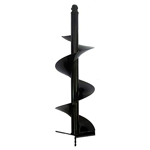 """XtremepowerUS 10"""" inch Post Hole Digger Replacement Auger Bits Dig Earth Grass Plant Hole Planting, Black"""