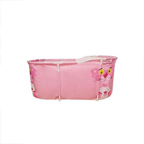 GLokpp beweegbare opvouwbare badtube voor volwassenen, inweken, badkuip, vrijstaande badkuip van kunststof, badtube voor douchecabine, dikke temperatuur met thermoschuim te houden