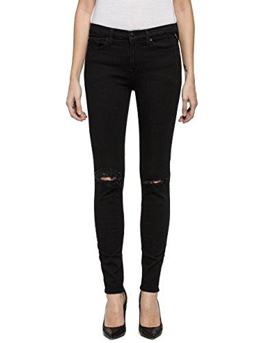 Replay Damen JOI Jeans, Schwarz (Black Denim 7), W30/L30 (Herstellergröße: 30)