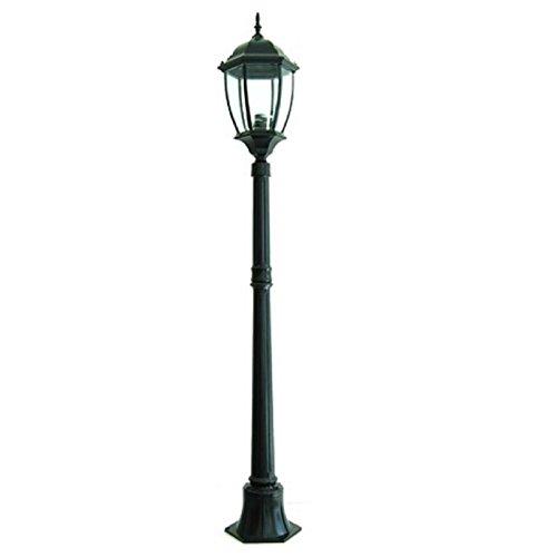 Gartenleuchte New York 1 Licht E27 Außenleuchte Höhe 180 cm IP65 - schwarz