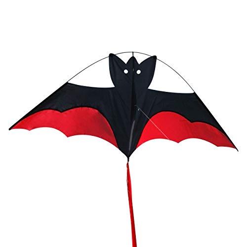 CIM Fledermaus Drachen - Big Bat Vampire - Einleiner Drachen für Kinder ab 3 Jahren - 95 x 38cm - inklusiv Drachenschnur und langem Drachenschwanz
