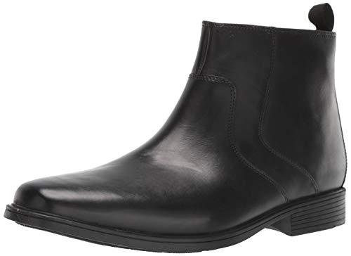 Clarks Men's Tilden Zip II Waterproof Boot Ankle, Black Leather, 120 M US