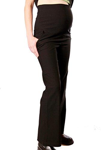 Christoff Umstandshose Schwangerschaftshose Business-Hose Stretch-Hose - weites Bein - weicher Bauchbund - 741-33-9 - schwarz Black - Gr. 42