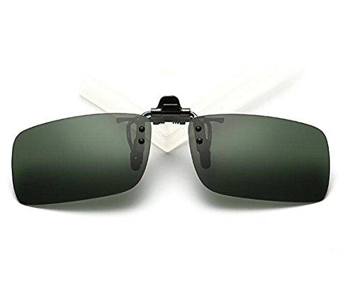 zmayastar ワンタッチ装着 日除け対策軽量デザインは クリップオン オーバーサングラス 偏光サングラス 偏光レンズ uvカット スポーツ ?を防ぐ 男女兼用 SH-YJ-005