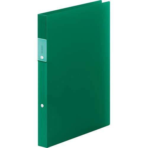 キングジム フェイバリッツ リングファイル 多機能2段ポケット付 A4 2穴 緑 FV621Tミト