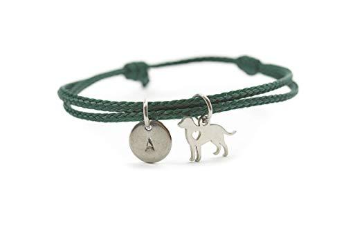 Armband Hund Edelstahl Segeltau Gravur vegan Freundschaftsamband personalisiert Outdoor