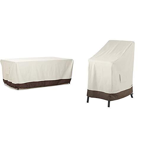 AmazonBasics - Copertura per Tavolo da Pranzo, 180 cm & s - Copertura Protettiva per sedie impilabili da Giardino