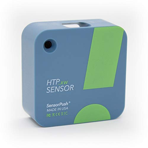 SensorPush HTP.xw Wireless Thermometer/Hygrometer/Barometer Extreme Accuracy Water-Resistant for iPhone/Android - Made in USA Indoor/Outdoor Humidity/Temperature/Pressure/Dewpoint/VPD Sensor w/ Alerts