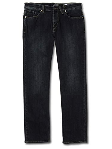Volcom Men's Solver Denim Jean Vintage Blue 34W x 32L
