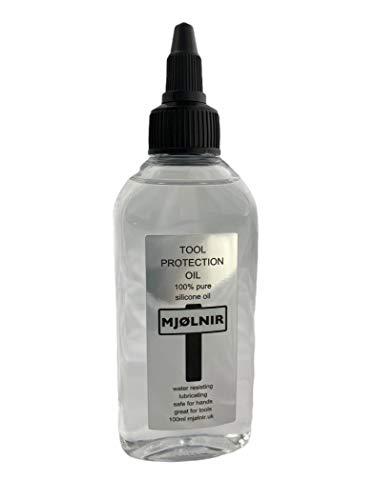 Mjolnir Aceite de silicona puro para herramientas 100 ml – 100% aceite de silicona sin aditivos – Ideal para herramientas seguras para manos – También se utiliza para acrílico vertir arte