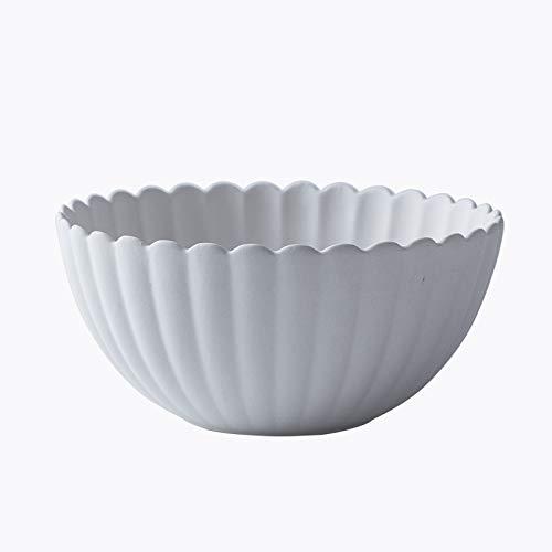 YUWANW Japonais Zen Chili Vaisselle Série Créative Et Vent Assiette En Céramique Assiette Dîner Assiette Ménage Bol À Soupe Bol De Riz, Bol En Forme De Marguerite