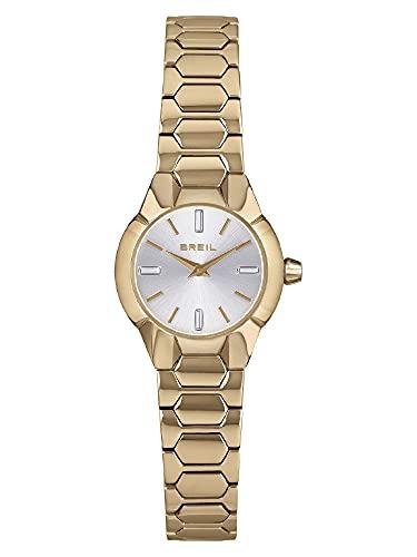 Breil Damen Armbanduhr New One IP Light Gold Edelstahl Gold 24mm, Wasserdichtigkeit: 5 Bar, TW1914