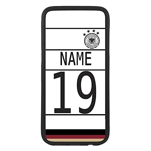 Carcasa funda de móvil personalizada con tu nombre y número de la selección alemana para J5 (2017) funda de goma flexible TPU borde negro crea tu diseño para la eurocopa 2021 Samsung Galaxy