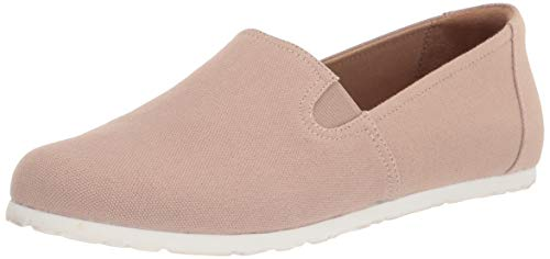 Amazon Essentials Women's Casual Slip On Canvas Flat Sneaker, Taupe, 11 B US