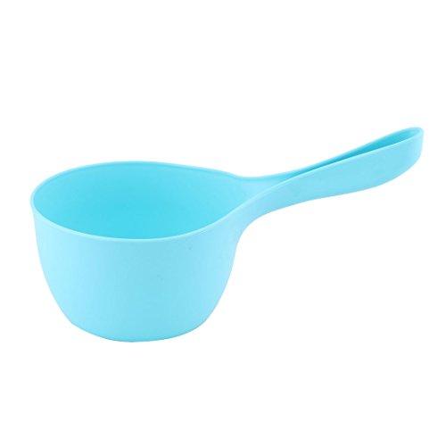 sourcingmap schöpfkelle Messlöffel Küche Plastik Griff Rund Kopf Wasser Halter Speicherung gießen Griff Scoop Blau