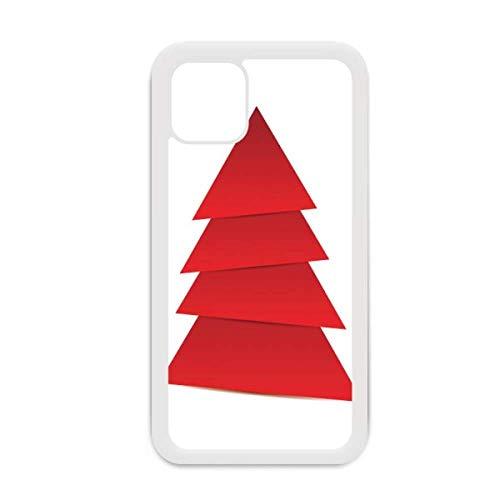 Abstracto Árbol de Navidad Patrón de Origami para iPhone 12 Pro Max Cubierta para Apple Mini Carcasa Blanca