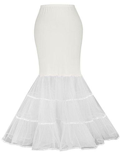 Women's Floor Length Slips Wedding Petticoat for Bridal (M,Ivory 477)