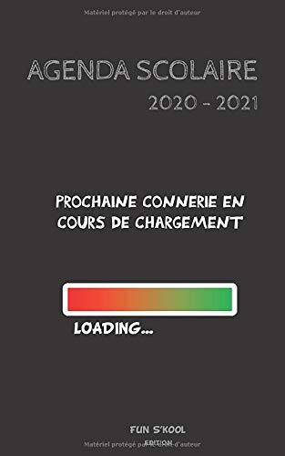 AGENDA SCOLAIRE 2020 - 2021: agenda journalier, 2 jours par page, couverture HUMOUR