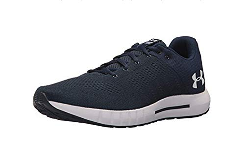 Under Armour Men's Micro G Pursuit Running Shoe, Academy Blue (402)/Black, 10