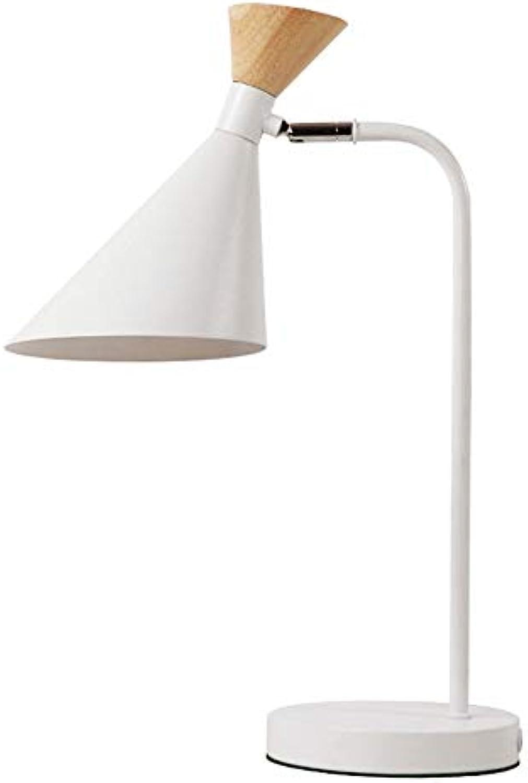 Liunce Moderne Einfachheit Eisen Metall Tischleuchte mit Schalter E27 Familie Schlafzimmer Nachttischlampe Minimalistischen Holz Desktop Licht Kreative Schreibtischlampe Wohnzimmer Edison Nachttischla