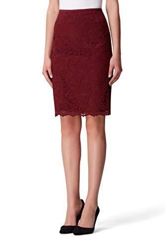 Tahari ASL Women's Lace Pencil Skirt, Wine, 12