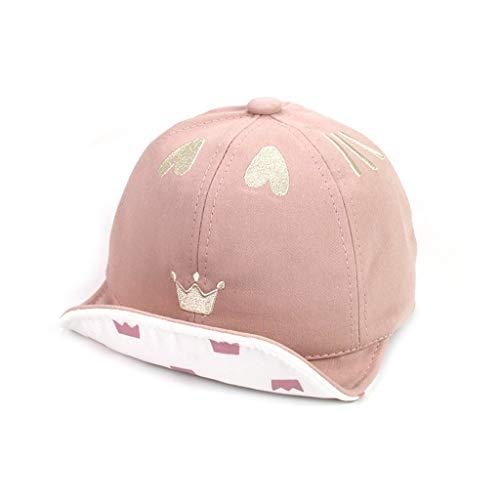 Youlin Kawaii - Sombrero de béisbol para bebé o niña, ajustable, para primavera y verano rosa