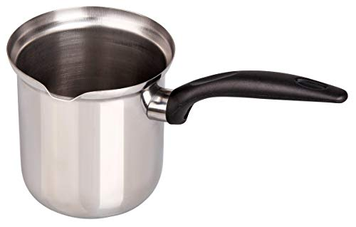 FACKELMANN Kaffee- und Milchtopf 800 ml, Edelstahl, schwarz/Silber, Druchmesser ca. 9cm