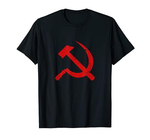 Martillo de símbolo comunista rojo hoz Karl Marx URSS CCCP Lenin Camiseta